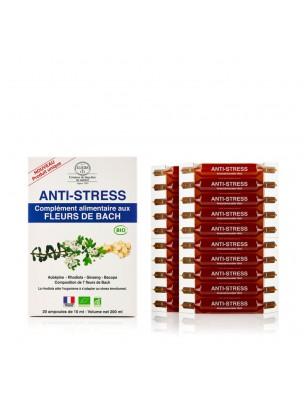 Stress - Complément alimentaire Bio aux Fleurs de Bach 20 ampoules de 10 ml - Elixirs and Co