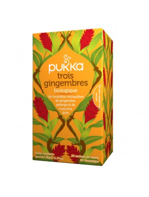 Trois Gingembre Bio - Infusion 20 sachets - Pukka Herbs