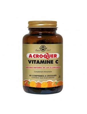 Vitamine C goût Orange - Défenses immunitaires 90 comprimés à croquer - Solgar