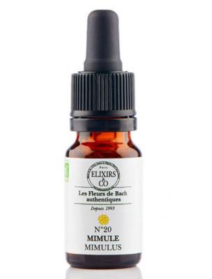 Mimule (Mimulus) N°20 Bio - Phobies et Petites Peurs Fleurs de Bach 20 ml - Elixirs and Co