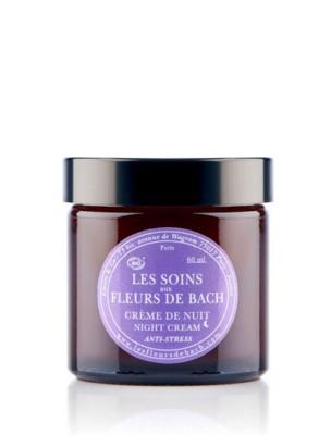 Crème de nuit anti-stress Bio aux Fleurs de Bach 60 ml - Elixirs and Co