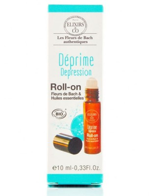 Roll-on Déprime Bio aux Fleurs de Bach 10 ml - Elixirs and Co