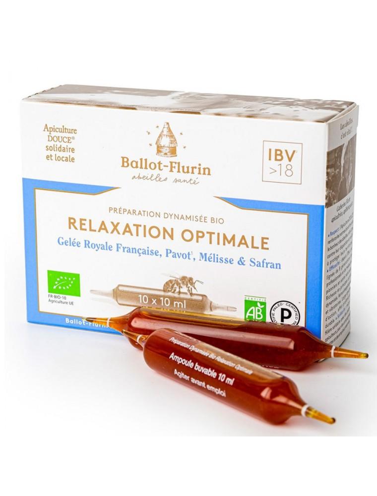 Préparation dynamisée Bio - Relaxation Optimale 10 ampoules de 10 ml - Ballot-Flurin
