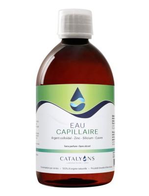 Eau Capillaire à l'Argent Colloïdal et Chlorophylle - Fortifie, Recharge de 500 ml - Catalyons