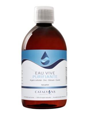 Eau Vive à l'Argent Colloïdal et à la Chlorophylle - Action purifiante 500 ml - Catalyons