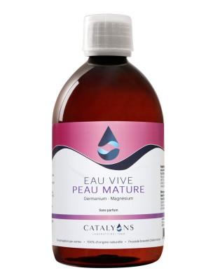 Eau Vive pour peaux matures à la Chlorophylle - Action régénératrice 500 ml - Catalyons