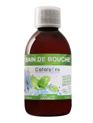 Bain de bouche à l'argent colloïdal sans alcool Bio 250 ml - Catalyons