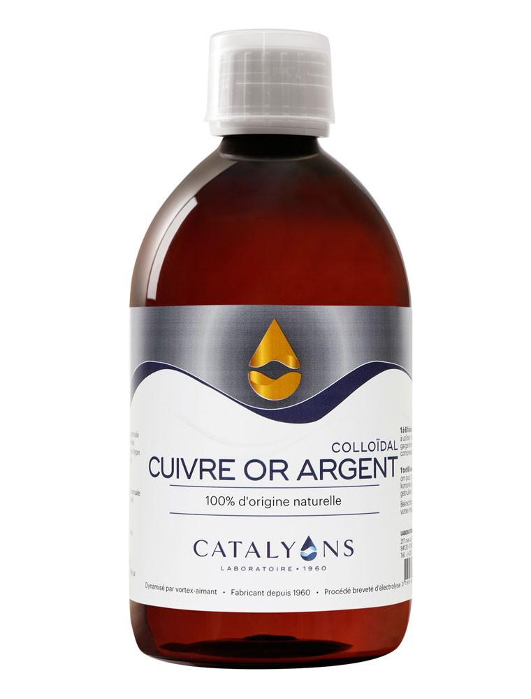 Cuivre, Or et Argent - Oligo-éléments 500 ml - Catalyons