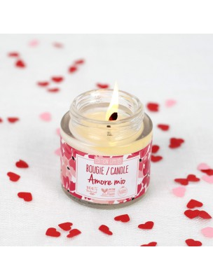Bougie d'Ambiance Amore mio Bio - Cire végétale parfumée 160 g - Zao Make-up