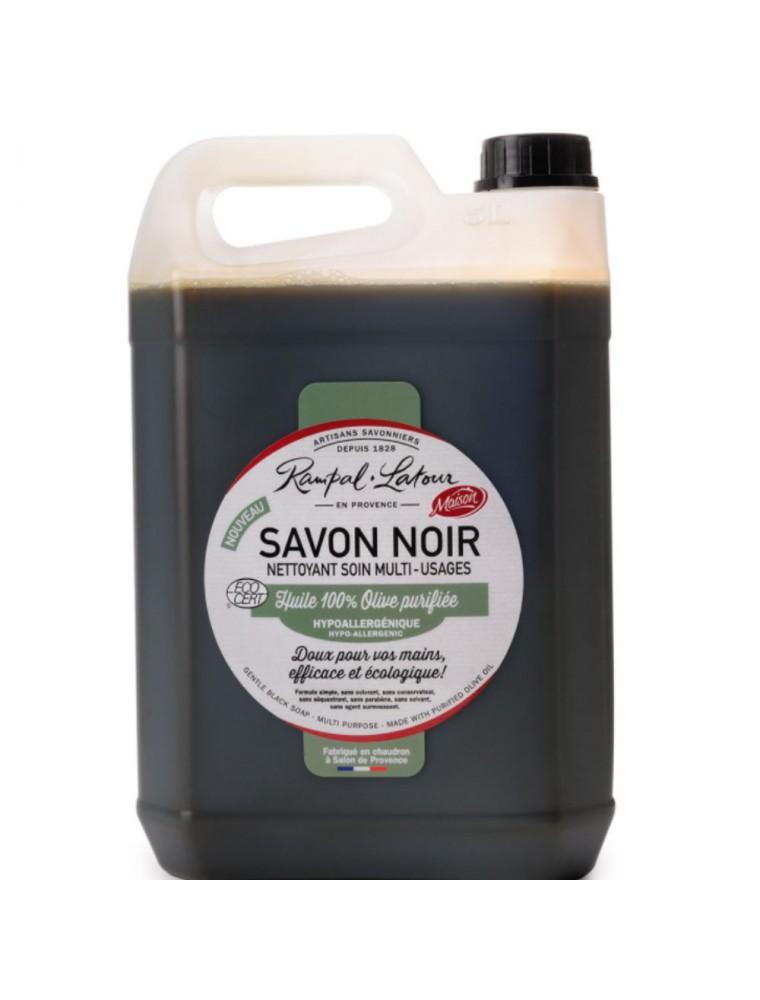 Savon Noir Hypoallergénique Olive Bio - Nettoyant Soin Multi-usages 5 Litres - Rampal Latour