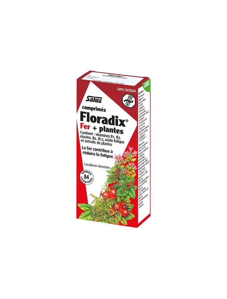 Floradix Fer + plantes - Tonique 84 comprimés - Salus