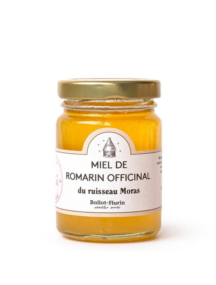 Miel de Romarin Bio 125g -  Miel aromatique, excellent stimulant général - Ballot-Flurin