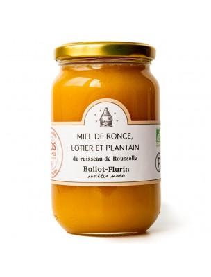 Miel de Ronce, Lotier et Plantain Bio 480g - Miel Rare - Ballot-Flurin