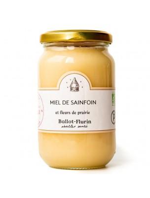 Miel de Sainfoin et Fleurs de Prairie Bio 480g - Miel Doux et Crémeux - Ballot-Flurin