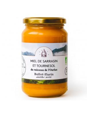Miel de Sarrasin et Tournesol Bio 480g - Miel Doux - Ballot-Flurin