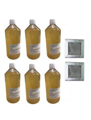 Kit Consommation Stil'Air Mini 6 Mois Citron Menthe - 2 Filtres et 6 Litres de solution - Parolai Stil'Eco