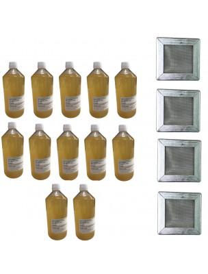 Kit Consommation Stil'Air Mini 12 Mois Citron Menthe - 4 Filtres et 12 Litres de solution - Parolai Stil'Eco