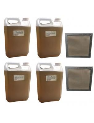 Kit Consommation Stil'Air 250 ou 500 6 Mois Citron - 2 Filtres et 20 Litres de solution - Parolai Stil'Eco