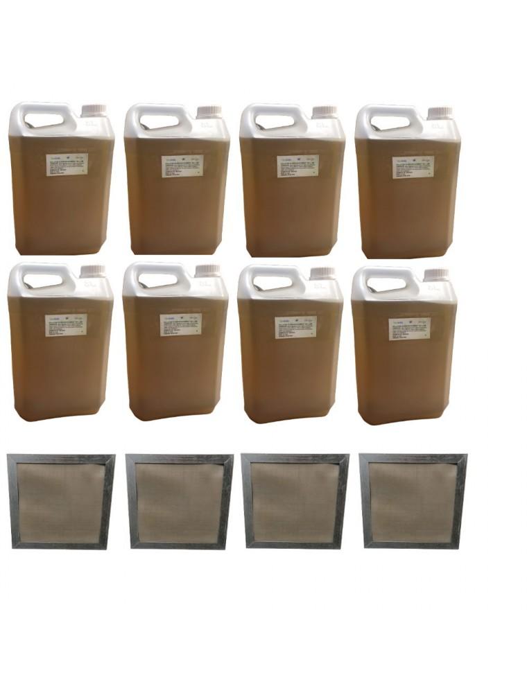 Kit Consommation Stil'Air 250 ou 500 12 Mois Citron Menthe - 4 Filtres et 40 Litres de solution - Parolai Stil'Eco