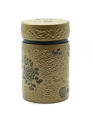 Boite à thé Yumiko Dorée pour 150 g de thé