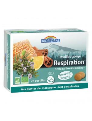 Pastilles Gorge Respiration Bio - Voies respiratoires 24 Pastilles - Biofloral
