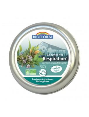 Gommes Nez Respiration Bio - Voies respiratoires 45g - Biofloral