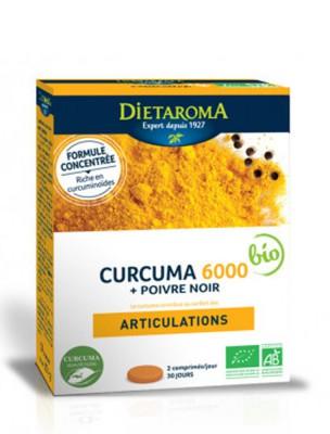 Curcuma 6000 et Poivre Noir - Articulations 60 comprimés - Dietaroma