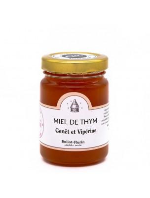 Miel de Thym, Genêt et Vipérine Bio 125g - Miel Doux - Ballot-Flurin