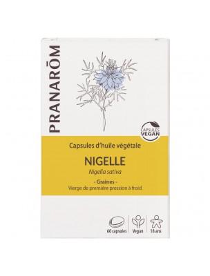 Nigelle Bio - Huile végétale de Nigella sativa 60 capsules - Pranarôm