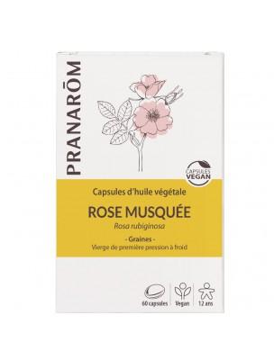 Rose musquée Bio - Huile végétale de Rosa rubiginosa 60 capsules - Pranarôm