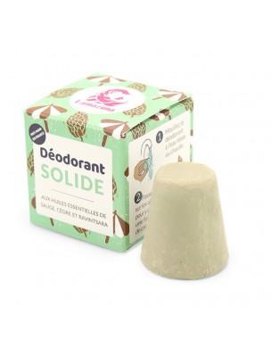 Déodorant solide Vegan sans aluminium - Sauge Cèdre 30 grammes - Lamazuna