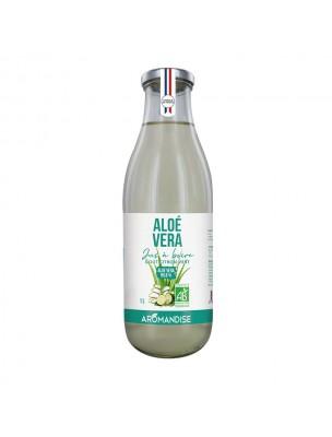 Aloe vera Bio - Jus à boire goût Citron vert 1 Litre - Aromandise