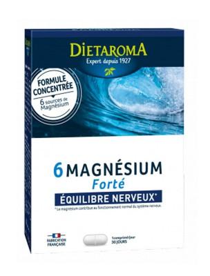 6 Magnésium Forté - Equilibre nerveux 30 comprimés - Dietaroma