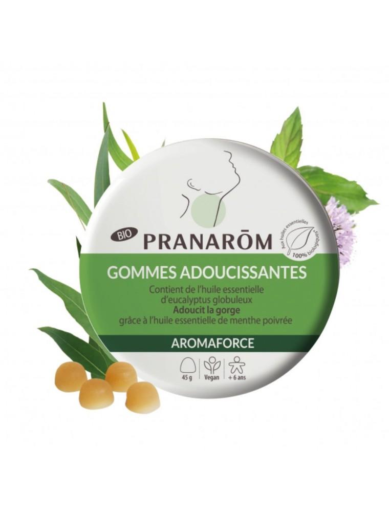Gommes à sucer aux huiles essentielles Aromagom - Maux de gorge 45g - Pranarôm