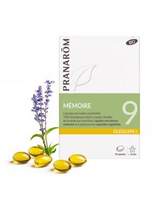 Oléocaps + 9 Bio - Mémoire 30 capsules d'huiles essentielles - Pranarôm