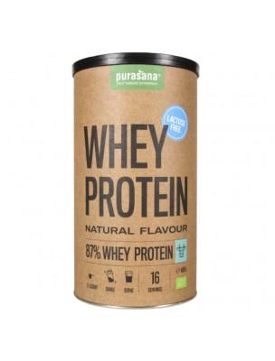 Whey Protein Sans Lactose Bio - Protéines de Petit Lait Naturel 400 g - Purasana