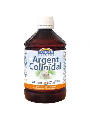 Argent Colloïdal 20 PPM - Lotion Externe pour Animaux 500 ml - Biofloral