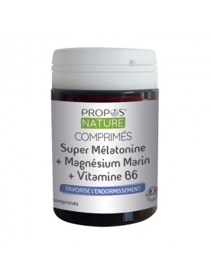 Super Mélatonine, Magnésium marin et Vitamine B6 - Sommeil 60 comprimés - Propos Nature