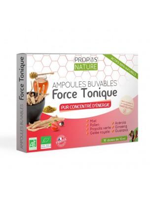 Force Tonique Bio - Vitalité 10 ampoules de 10 ml - Propos Nature
