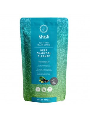 Deep Charcoal Cleanse Bio - Masque capillaire ayurvédique 50 grammes - Khadi