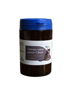 Gélules transparentes vides pour chat Taille 3 aromatisées au poulet - 150 gélules