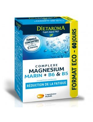 Complexe Magnésium Marin Plus B6 et B5 - Fatigue 120 capsules - Dietaroma