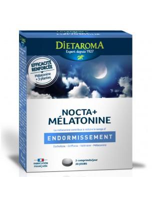 Nocta Plus Mélatonine - Sommeil 40 comprimés - Dietaroma