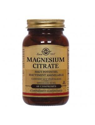 Magnésium Citrate - Stress et Fatigue 60 gélules - Solgar