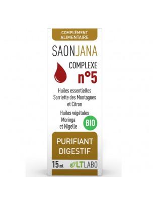 Saonjana Complexe n°5 Bio - Purifiant digestif 15 ml - LT Labo