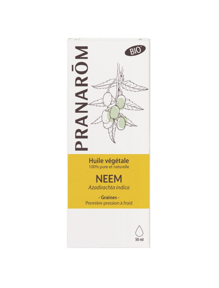 Neem Bio - Huile végétale d'Azadirachta indica 50 ml - Pranarôm
