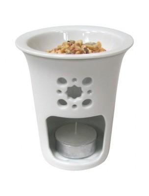 Photophore en porcelaine d'art pour résines et huiles essentielles - Les...