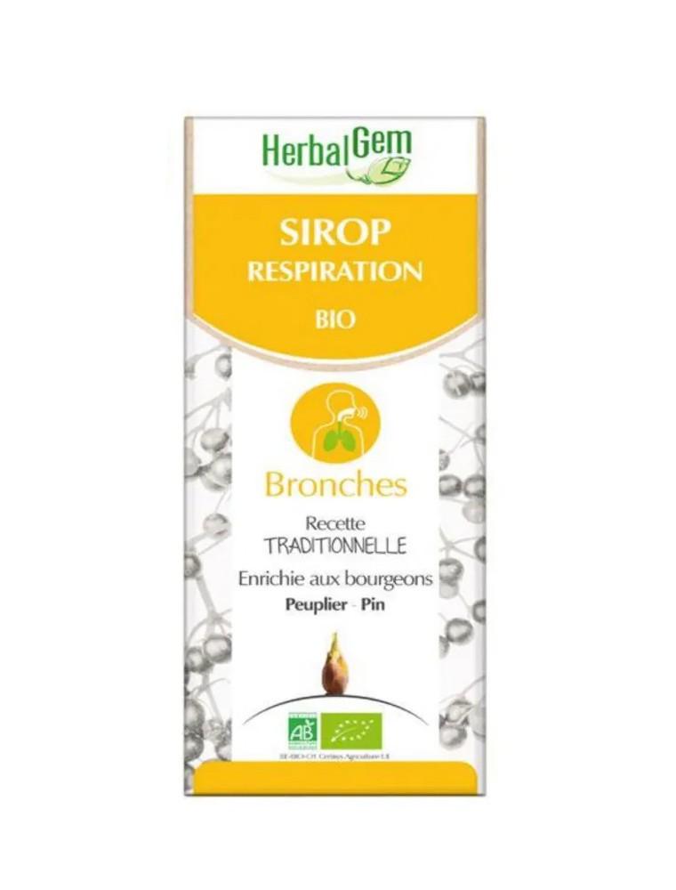 Sirop pour la respiration Bio - Respirez librement 250 ml - Herbalgem