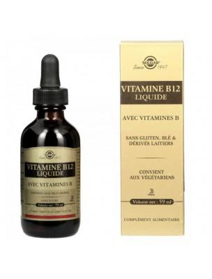 Vitamine B12 Liquide avec Vitamines B - Tonus 59 ml - Solgar