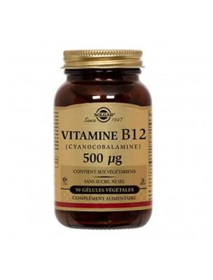 Vitamine B12 (Cyanocobalamine) 500 µg - Tonus 50 gélules végétales - Solgar